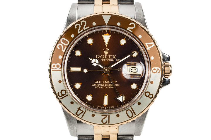 1987 Rolex Two Tone GMT-Master 16753 with Rootbeer Dial photo
