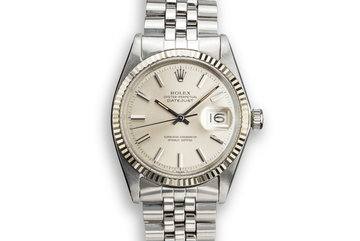 1968 Rolex DateJust 1601 No Lume Silver Dial photo