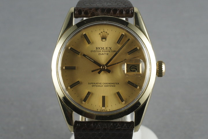 1979 Rolex Date 1550 Gold cap photo