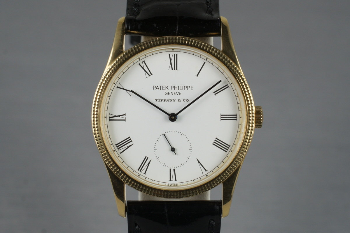 1990's YG Patek Philippe 3796d with Tiffany and Co. Dial photo, #0