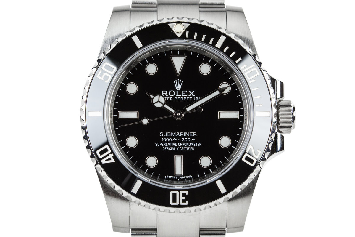2012 Rolex Submariner 114060 with Box and Papers photo, #0