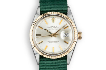 1969 Rolex Two-Tone DateJust 1601Silver Dial photo