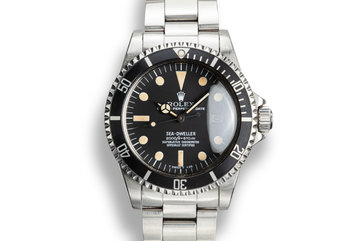 1979 Rolex Sea-Dweller 1665 Rail Dial with Service Papers photo