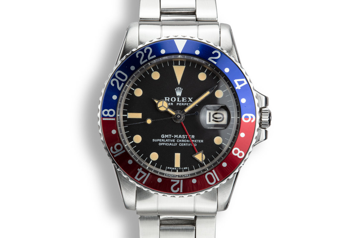 1972 Rolex GMT-Master 1675 with Box and Service Papers photo, #0
