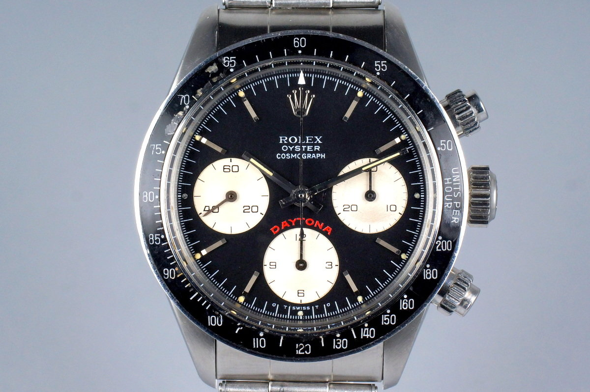 1975 Rolex Daytona 6263 Black Sigma Big Red Daytona Dial with RSC Papers photo, #0