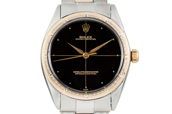1965 Rolex Oyster Perpetual Two Tone 1008 Zephyr Dial photo