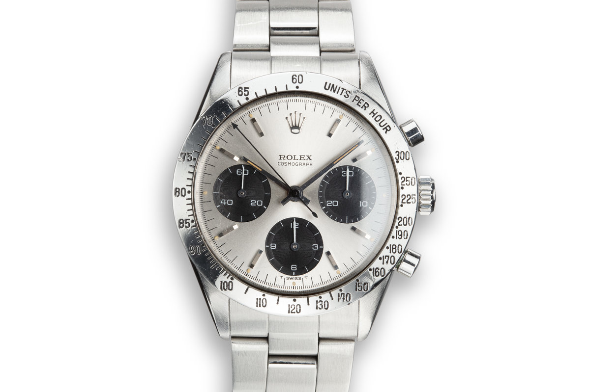 "1965 Rolex Daytona 6239 ""Long Hand"" Silver Dial with Guarantee photo, #0"