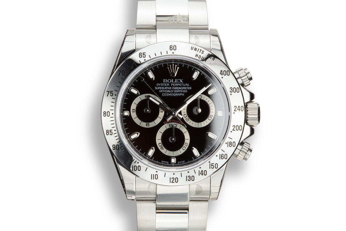 Mint 2009 Rolex Daytona 116520 Black Dial with Box and Papers and Stickers photo, #0