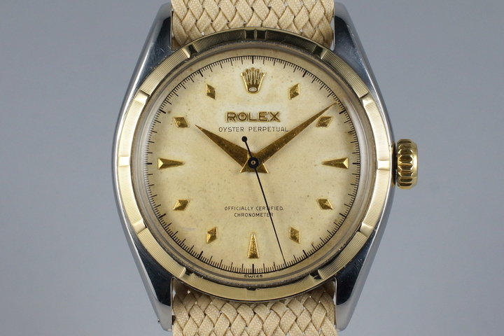 1952 Rolex Two Tone Oyster Perpetual 6085 photo