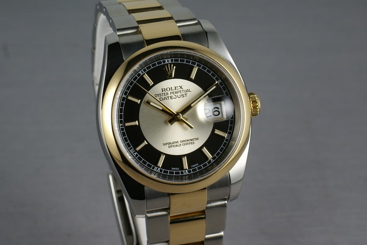 Rolex Datejust 18K and Steel 116203 Tuxedo Dial photo