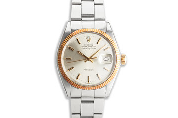 1968 Vintage Rolex Two Tone Air-King-Date 5701 photo