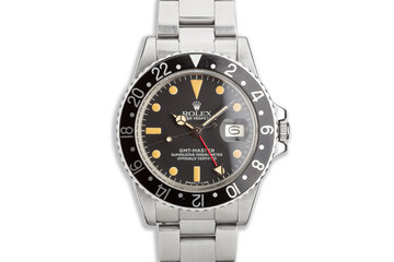 1979 Vintage Rolex GMT-Master 1675 Black Bezel photo
