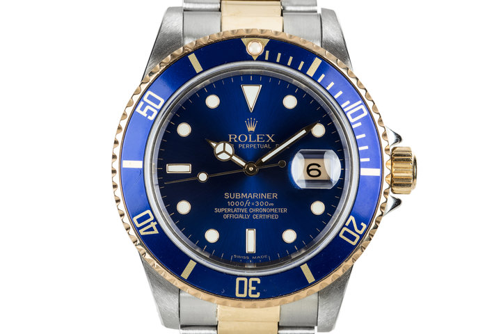 1985 Rolex Two Tone Submariner 16803 Blue DIal photo