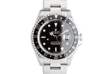 1999 Rolex GMT-Master II 16710 Black Bezel with Box & Papers photo