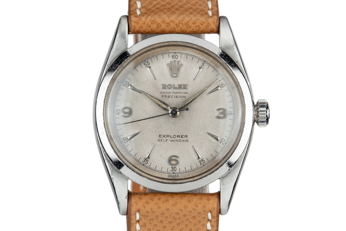 1953 Rolex Explorer 6298 with Silver Explorer SWISS Only Dial photo, #0