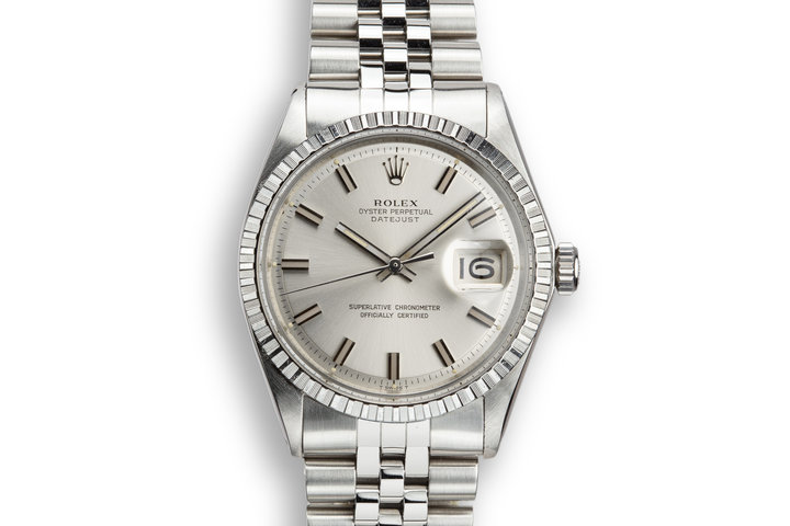1971 Rolex DateJust 1603 Silver Wide Boy Dial with Double Papers, and Rolex Service Papers photo