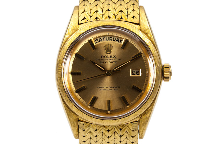 1962 Rolex YG Day-Date 1806 with Morellis Finish and Carl Bucherer bracelet photo
