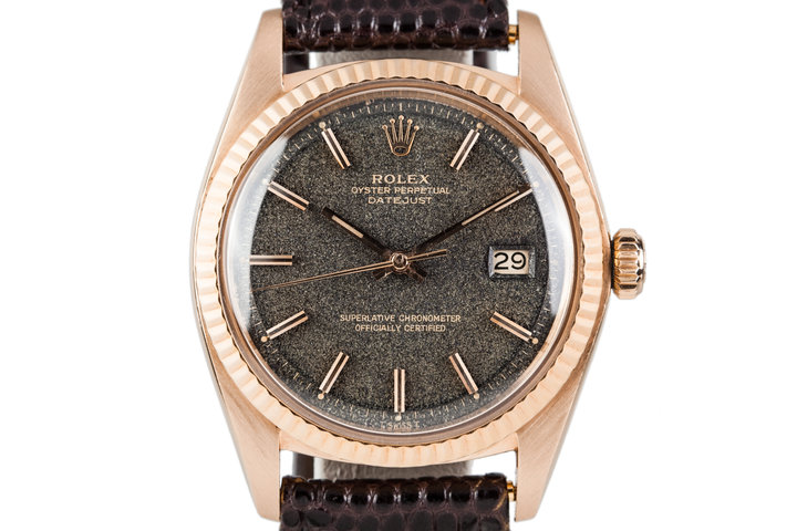 1977 Rolex 18K Rose Gold Datejust 1601 with Magic Space Boy Infinity Dial photo