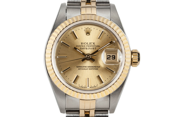 1997 Rolex Ladies Two Tone Datejust 69173 with Box and Papers photo