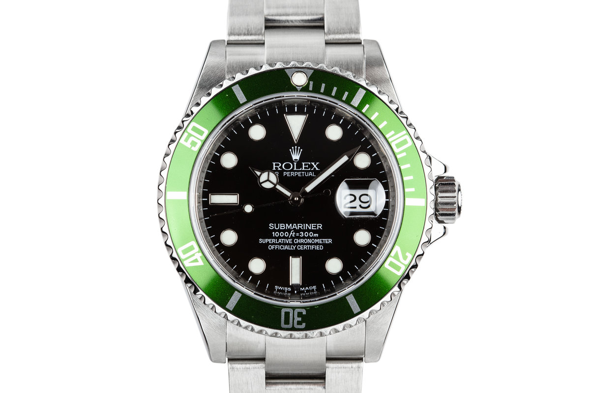 2007 Rolex Green Submariner 16610 with Box photo, #0