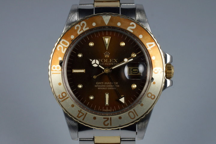 1979 Rolex Two Tone GMT 1675 Root Beer Dial photo