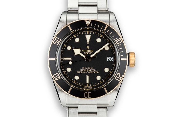 2017 Tudor Two-Tone Black Bay Heritage 79733N on Stainless Bracelet with Box and Papers photo