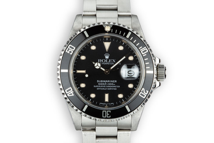 1989 Rolex Submariner 16610 with Box and Papers photo