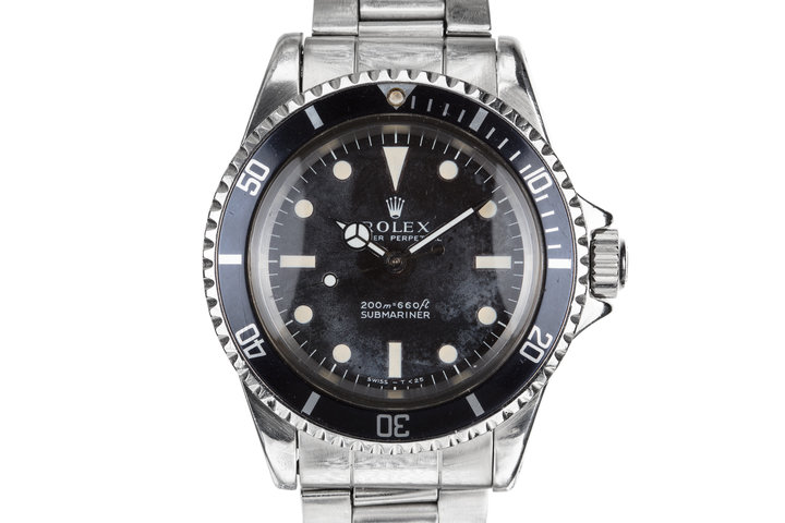 "1967 Rolex Submariner 5513 Meters First Dial with ""Night Sky"" Patina photo"