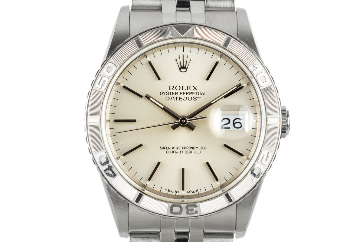 "1991 Rolex DateJust ""Thunderbird"" 16264 Silver Dial photo, #0"