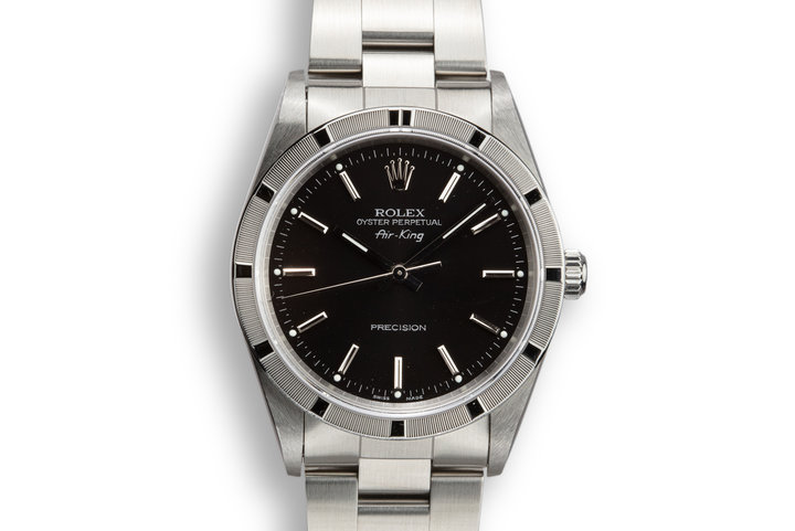 2001 Rolex Air-King 14010M Black Dial photo