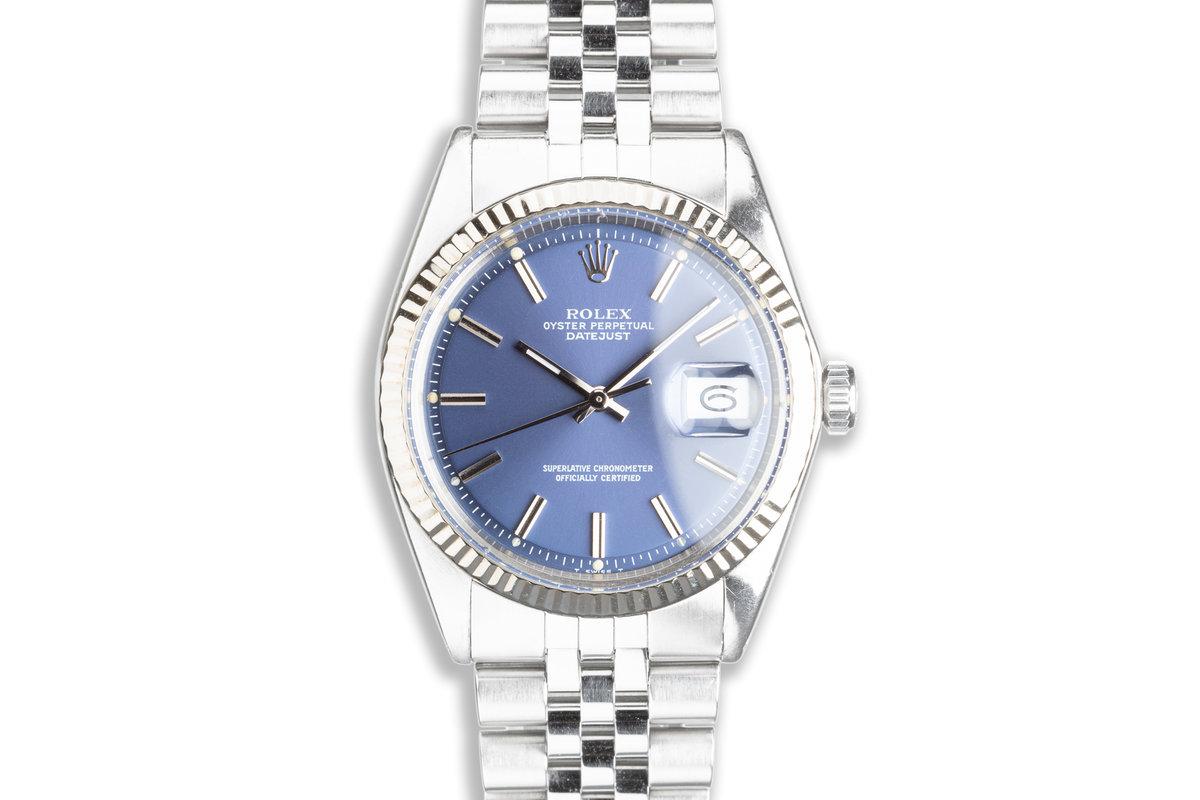 1972 Vintage Rolex DateJust 1601 Blue Dial photo, #0
