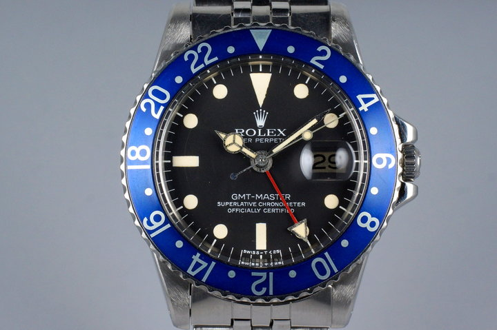 1978 Rolex GMT 1675 Blueberry with Box and Papers photo
