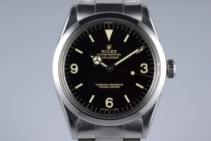 1965 Rolex Explorer 1 1016 Glossy Gilt Dial with Box and Double Punched Papers  photo