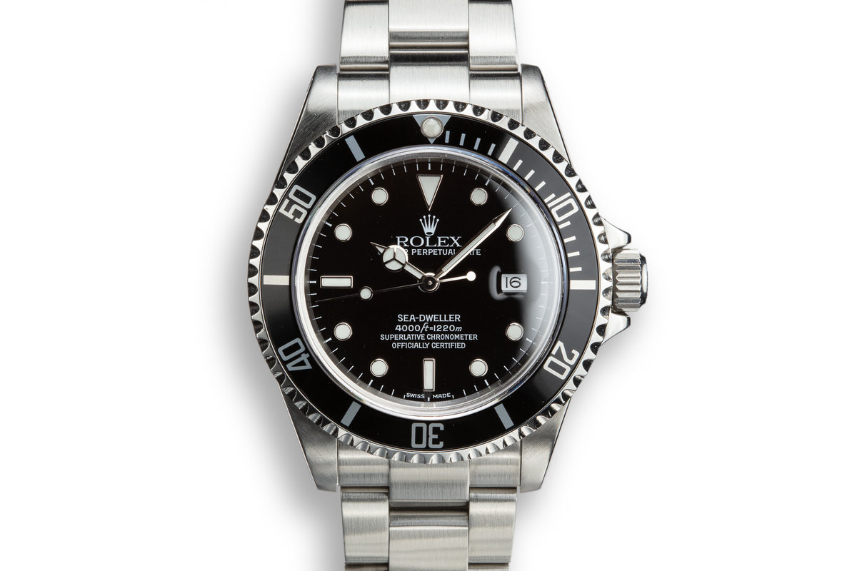 2002 Rolex Sea-Dweller 16600 with Box and Papers and Service Papers photo, #0