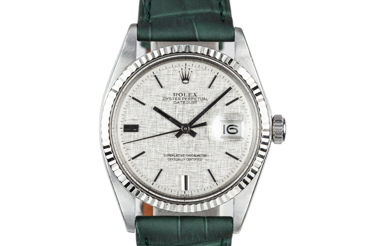 1971 Rolex DateJust 1601 with No Lume Linen Dial photo, #0