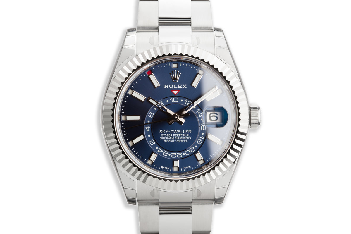 2019 Rolex Sky-Dweller 326934 Blue Dial with Box and Papers photo, #0