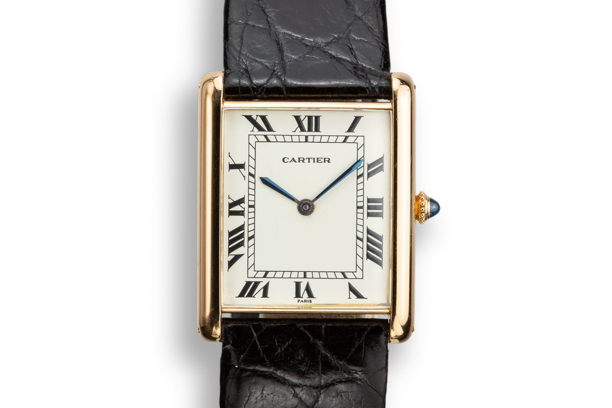 1970's Cartier 18K YG Louis Cartier Tank Jumbo Automatic photo, #0