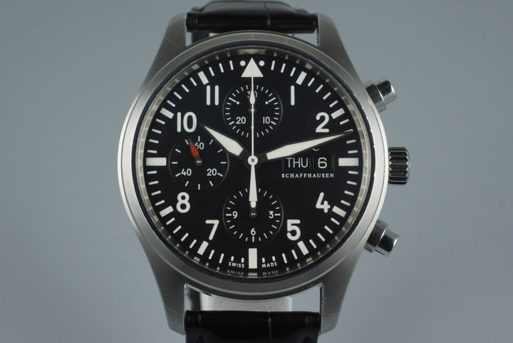 IWC Pilot Chronograph IW3717 with Box and Papers photo