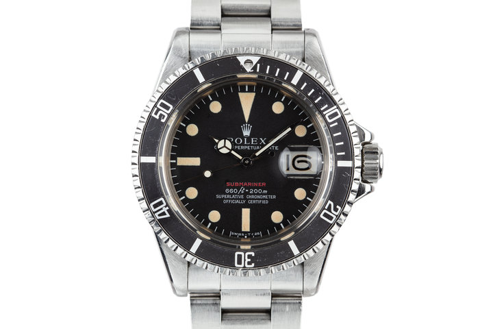 1970 Rolex Red Submariner 1680 MK IV Dial photo