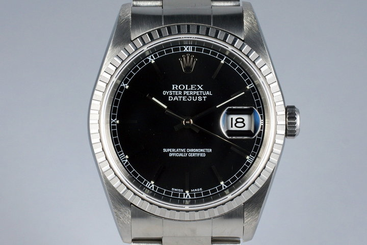 2002 Rolex DateJust 16220 Black Dial with Box and Papers photo