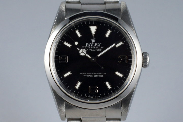1990 Rolex Explorer 14270 'Blackout' with Box and Papers photo