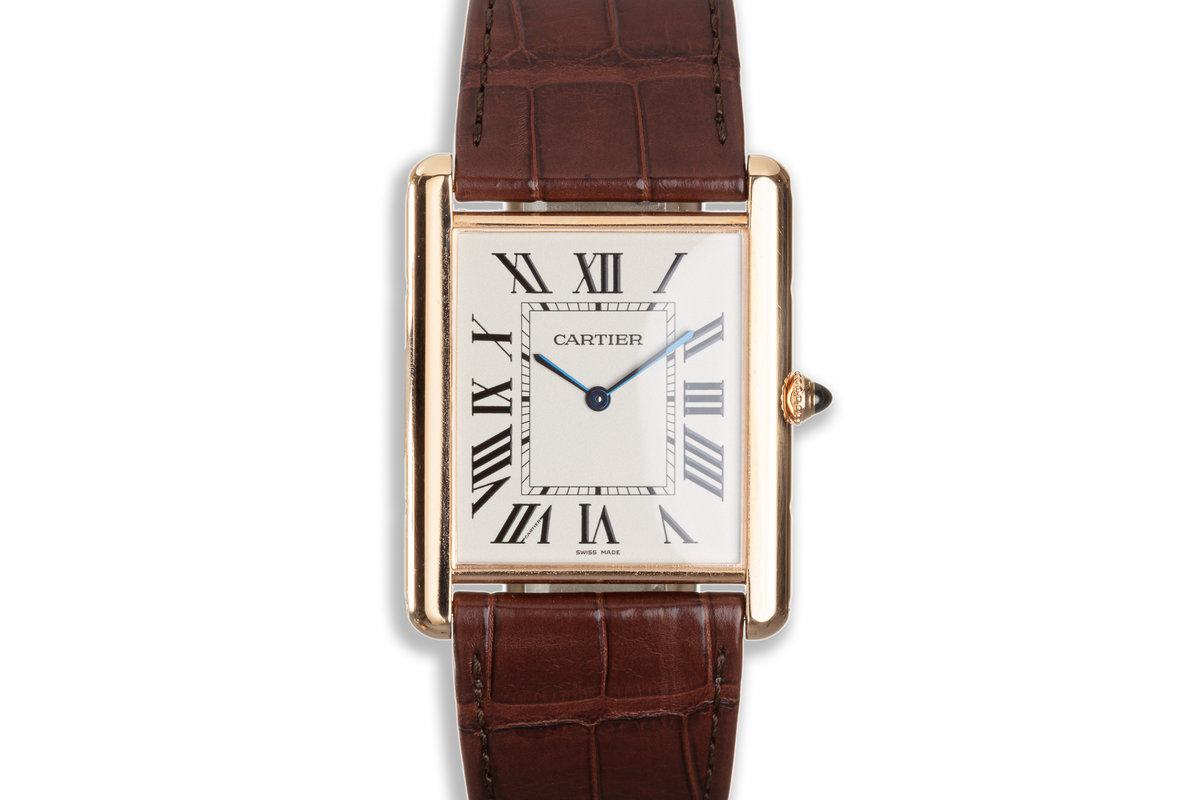 2013 Cartier 18K Rose Gold Large Tank Louis CRWGTA0011 with Box and Papers photo, #0