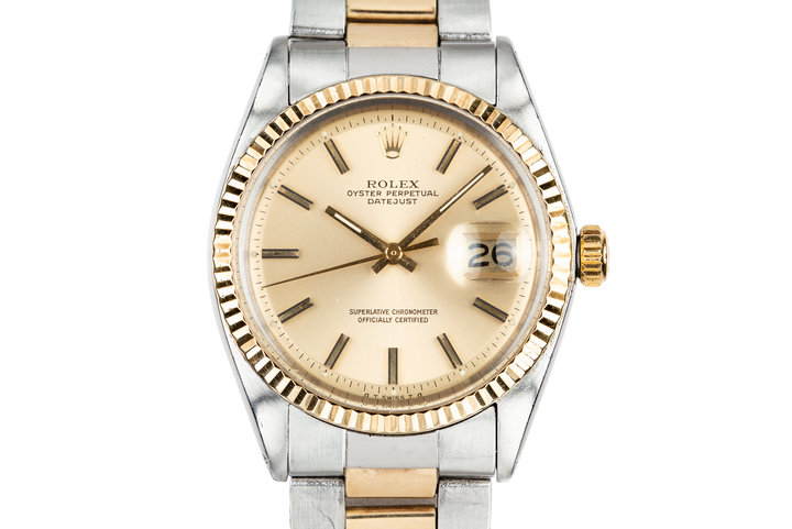 1972 Rolex Two-Tone DateJust 1601 Gold Sigma Dial on Two-Tone Oyster Bracelet photo