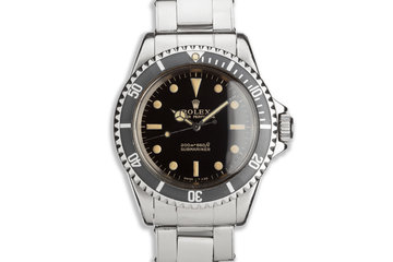 1965 Vintage Rolex Submariner 5513 Meters First Gilt Dial photo