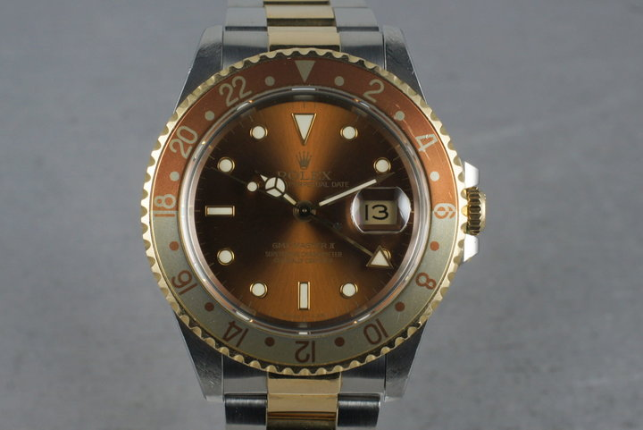 1991 Rolex 18K/SS Root Beer GMT-Master II 16713 photo