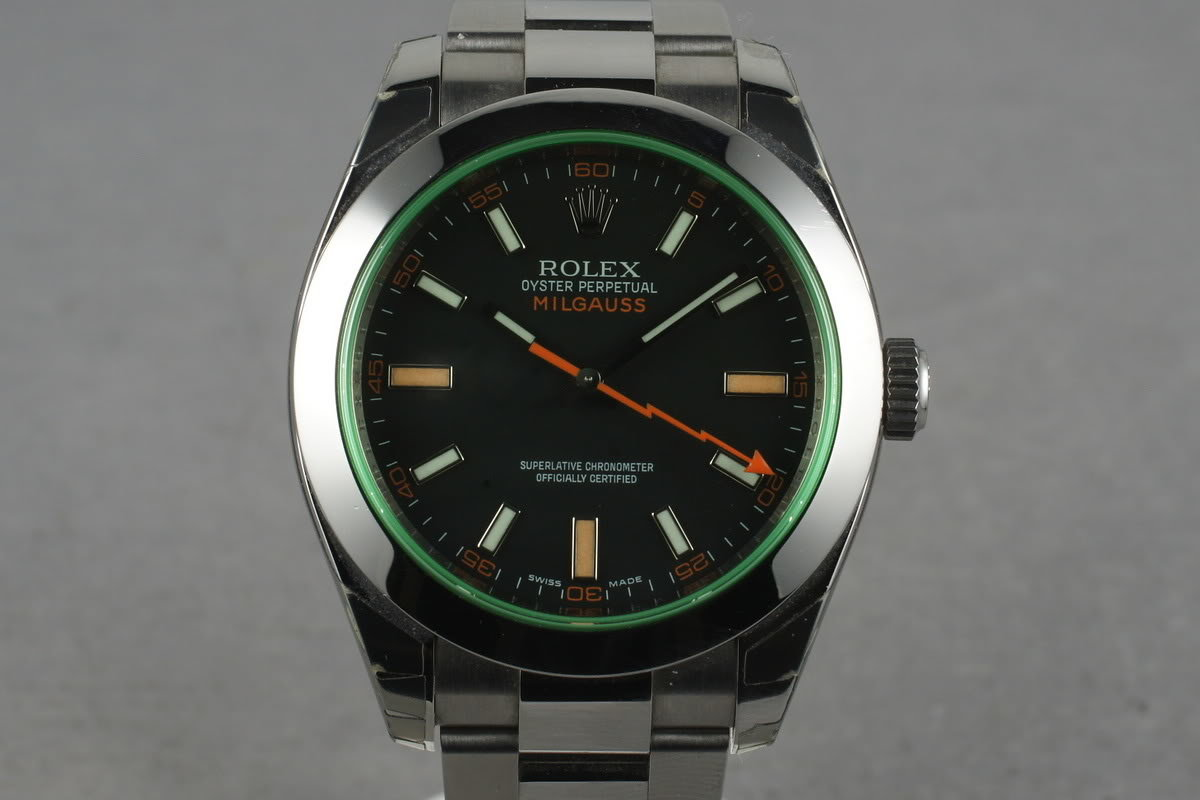 2009 Rolex Milgauss Green 116400 GV with Box and Papers photo, #0