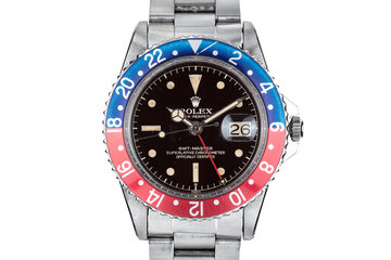 1961 Rolex GMT-Master 1675 with Gilt Chapter Ring Exclamation Dial photo