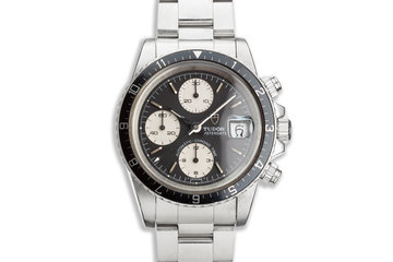 1989 Unpolished Tudor Chronograph Big Block 79170 Black & White Dial photo