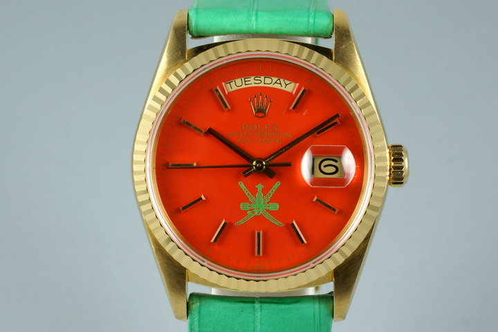 1987 YG Day-Date 18038 with Red Stella Oman Dial photo