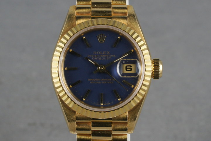 1995 Rolex Ladies DateJust President Ref: 69178 with Blue Dial photo